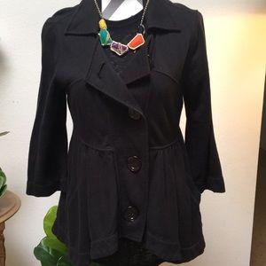 Anthropologie button Cotton jacket